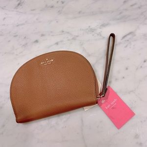KATE SPADE ♠️ Rima Leather Round Wristlet NWT